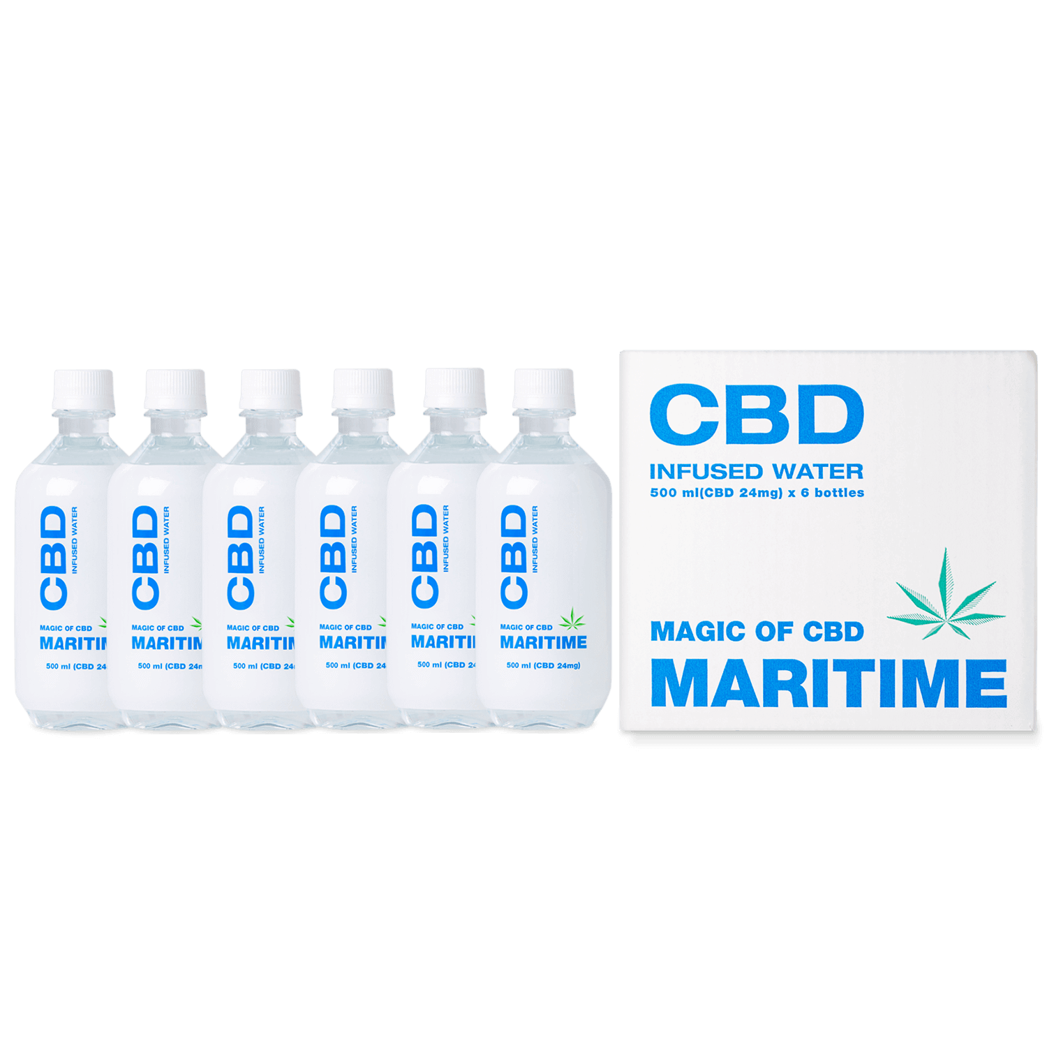 MARITIME CBD Water 500ml - set of 6 bottles